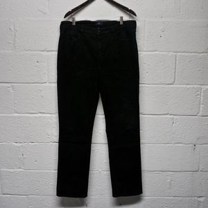 NYDJ Black Straight Leg Jeans w/ Rhinestone Pocket